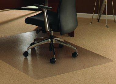 Stoelmat tapijt vloer Polycarbonaat recht transparant groot