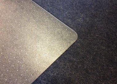 Stoelmat tapijt vloer Polycarbonaat recht transparant