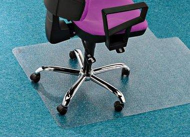 Stoelmat tapijt vloer kleurvast PVC anti statisch met lip recht