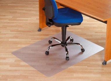 Stoelmat harde vloer PVC recht - groot