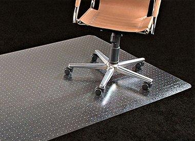 Stoelmat tapijt vloer hoge kwaliteit PVC met lip