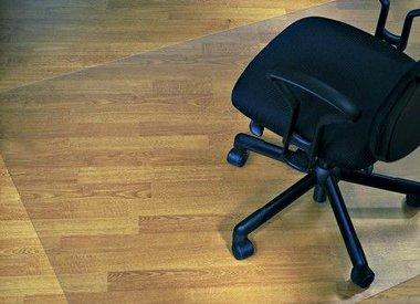 Stoelmat voor harde vloeren antislip recht groot